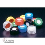 Pre-assembled Polypropylene Hole Cap with PTFE/Red Rubber Septa | Quasar Instruments