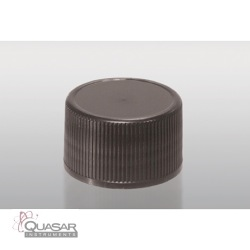 Black Polypropylene Acid Cap with Foam/PE Liner | Quasar Instruments