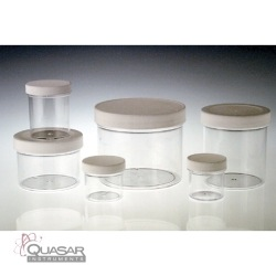 Clear PS Jar, White PP SturdeeSeal PE Foam Lined Cap | Quasar Instruments