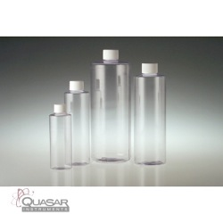 Clear PVC Cylinders, White PP SturdeeSeal PE Foam Lined Caps | Quasar Instruments
