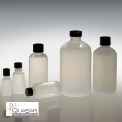 Natural LDPE Boston Round, Bottle Only | Quasar Instruments