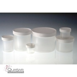 Natural PP Jar, White PP SturdeeSeal PE Foam Lined Cap | Quasar Instruments